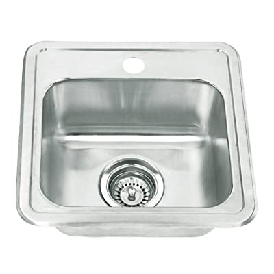 Yosemite Home Decor MAG1515 22-Gauge Stainless Steel Drop In Bar Sink