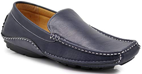 ight Casual Cruise Venetian Classic Driving Moccasin Loafer Driver Shoes (9.5 D(M) US, Navy Blue) ()