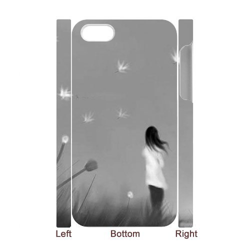 SYYCH Phone case Of Girl and Dandelion Cover Case For Iphone 4/4s