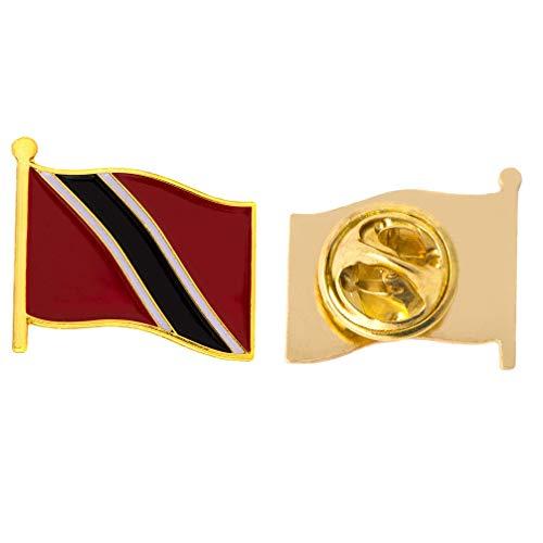 (Trinidad Country Flag Lapel Pin Enamel Made of Metal Souvenir Hat Men Women Patriotic (Waving Flag Lapel)