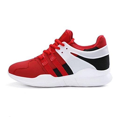 Adulto Sintético Running de de Zapatillas Rojo Unisex Material LFEU xwaA60nqXS