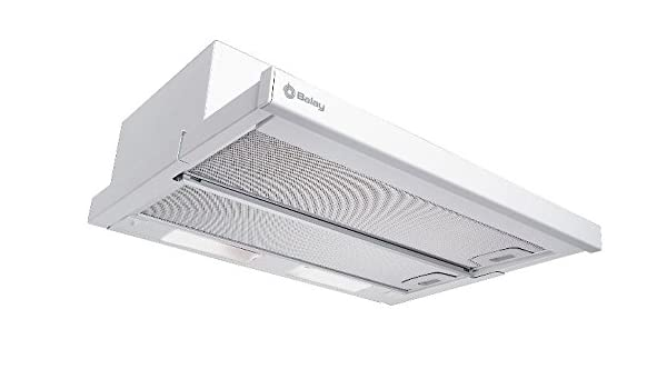 Balay 3BT-732 B - Campana (Recirculación, 324 m³/h, 59 Db, Built-under, Color blanco, Giratorio): Amazon.es: Hogar