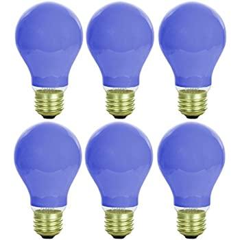 60 Watt A19 Blue Light Bulb Incandescent Bulbs Amazon Com