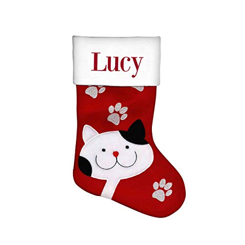 Dinkleboo Personalized Christmas Stockings Festive Holiday Designs are Great for Kids, Adults and Pets Too! - (15 3/4
