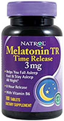 Natrol Melatonin 3 mg Sleep Time Release Dietary Supplement Tablets 100 ea (Pack of 4)