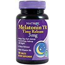 Natrol Melatonin 3 mg Sleep Time Release Dietary Supplement Tablets 100 ea (Pack of 4 ...