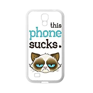 Funny Grumpy Cat Cartoon Rubber Cell Phone Cover Case for SamSung Galaxy S4,SIV Cases