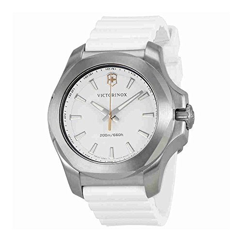 Victorinox I.N.O.X. V White Dial White Rubber Ladies Watch 241769