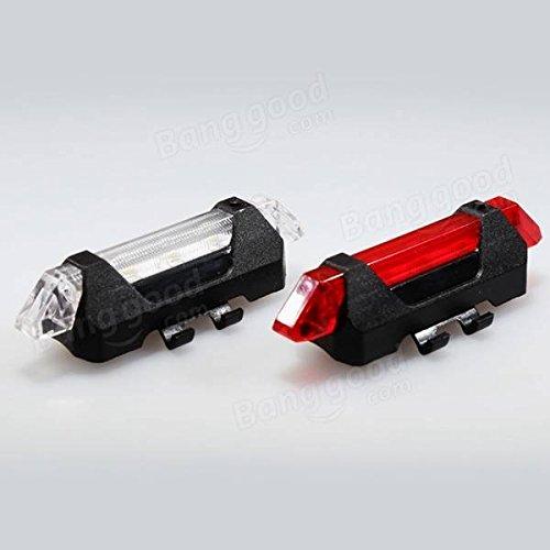 PhilMat USB recargable bicicleta cola encender LED seguridad ADVERTENCIA luz