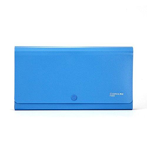 COMIX Personal Check/ Coupon size 13-Pocket Portable Expanding File Organizer Pocket - Blue (F4303BU)