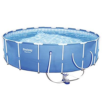 """Bestway Steel Pro 12' x 30"""" Frame Above Ground Pool Set with Filter Pump + Cover"""