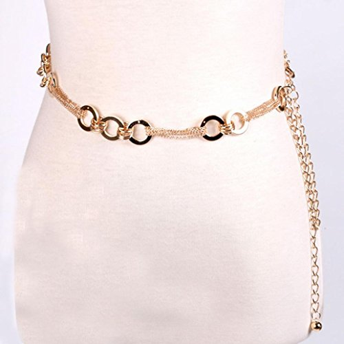 Tuscom Women's Lady Fashion Metal Chain Style Belt Body (Charm Chain Belt)