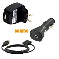 3 Piece Value Combo Accessory Bundle Kit: USB Car Charger + USB Travel Charger + USB Data Sync Cable for Sansa Fuze Series MP3 Player
