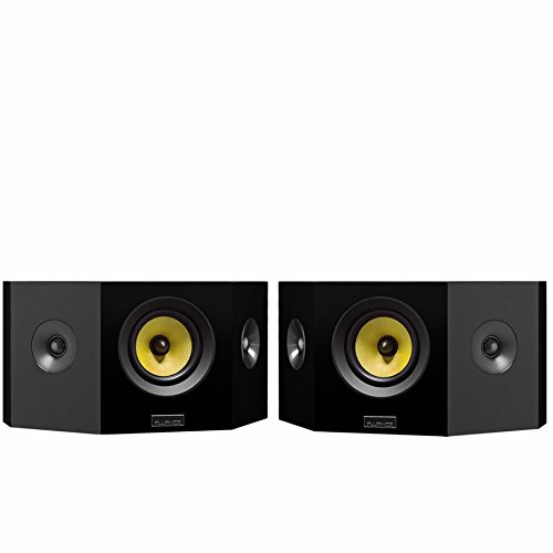 Fluance Signature Series Hi-Fi Bipolar Surround Sound Wide Dispersion Speakers for Home Theater (HFBP)
