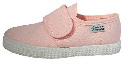 Natural World Canvas Hausschuhe Sneaker Halbschuhe rosa