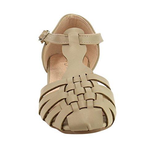 Per Sempre Se70, Donna, Intrecciata, Con Cinturino A Tacco Piatto, Sandalo Taupe