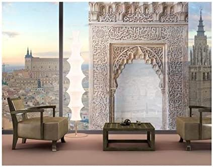 XXL Mural de Ventana Alhambra, Dimensione:380cm x 216cm: Amazon.es: Hogar