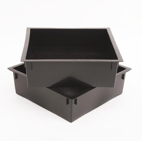 nal Composting Bin Trays Black (Pack of 2) ()