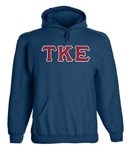 Fashion Greek Tau Kappa Epsilon Twill Letter Hoody Navy RW (Tau Greek Letter)