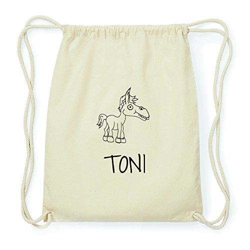JOllipets TONI Hipster Turnbeutel Tasche Rucksack aus Baumwolle Design: Pferd