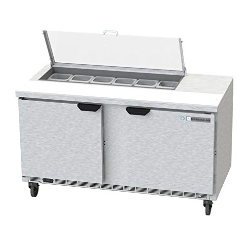 - Beverage Air SPE60HC-12-CL Elite Series Clear Lid Sandwich Top Refrigerated Counter, 60