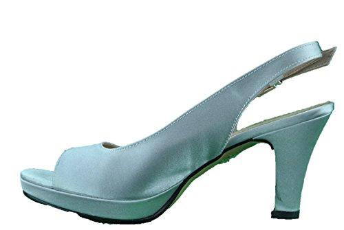Inart...DONNA - Sandalias de vestir de Piel para mujer plateado plateado