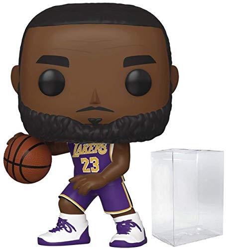 Lebron James LA Lakers - Camiseta de manga corta, color morado Figura de accion deportiva de la NBA (empaquetado con protector de pop para proteger la caja de visualizacion)