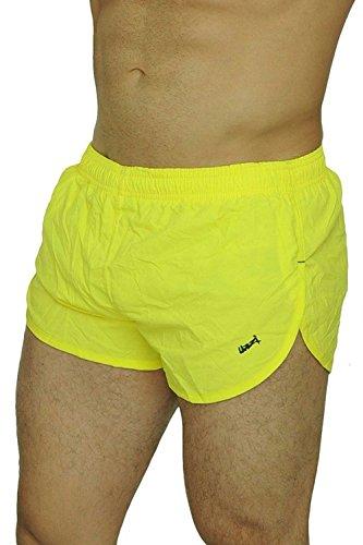 UZZI Men's Running Shorts Swimwear Trunks 1830, Neon Yellow, -
