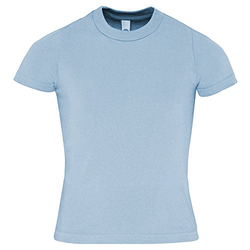 corte pallido a blu maniche Apparel Maglietta American PpAwgx