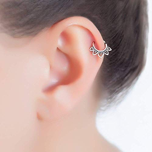 Amazon Com Sterling Silver Tragus Earring Tribal Indian Hoop