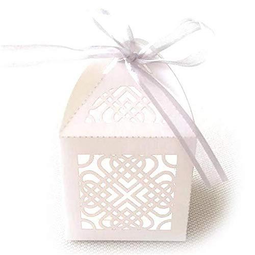 ARAYACY Caja De Dulces De Chocolate Europea/Caja De Dulces/Caja Hueca/Bandeja Blanca (100PCS)