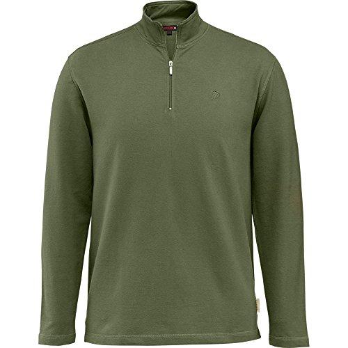 Wolverine Men's Benton Sueded French Terry Quarter Zip Shirt, Hunter, - Men's French Quarter Clothing