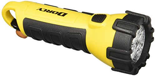 Dorcy Waterproof LED Flashlight 41-2510, 55-Lumens, Yellow (2 Pack)