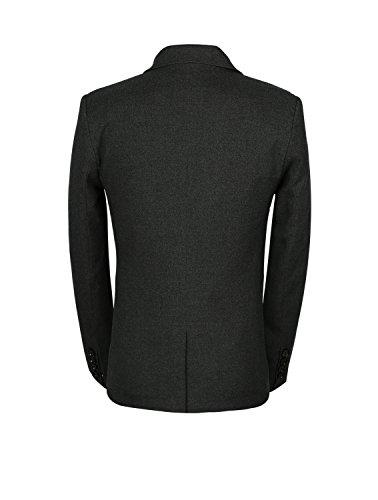 Robe D'hiver 3 Pièces Pour Hommes De Mogu Slim Casual Costumes Blazer + Gilet Mis + Pantalon Gris