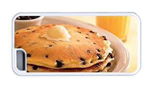 Hipster iPhone 5C Cheap price case blueberry pancakes TPU White for Apple iPhone 5C