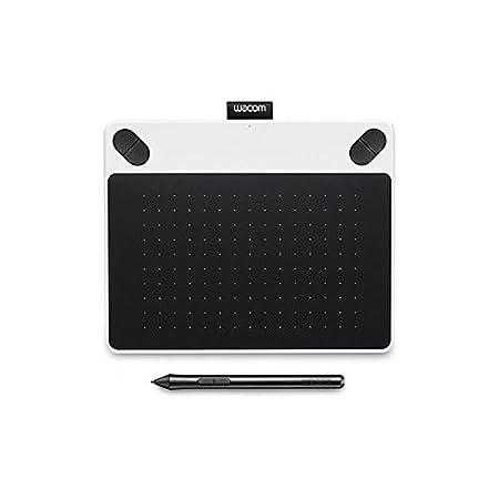 Wacom CTL-490DW-S Intuos Draw Tableta gráfica, Color blanco y negro