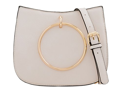 Quality Designer Handbags Celeb Ladies Body Ring Ring Fashion Cross BLACK Bags LeahWard Women's Large Style Handle Bags Nice Girl's Beige ztx7Cxqw
