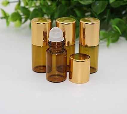 Musuntas 12 Pack Bola de 3 ml Mini botella de vidrio para aceites esenciales/polvo