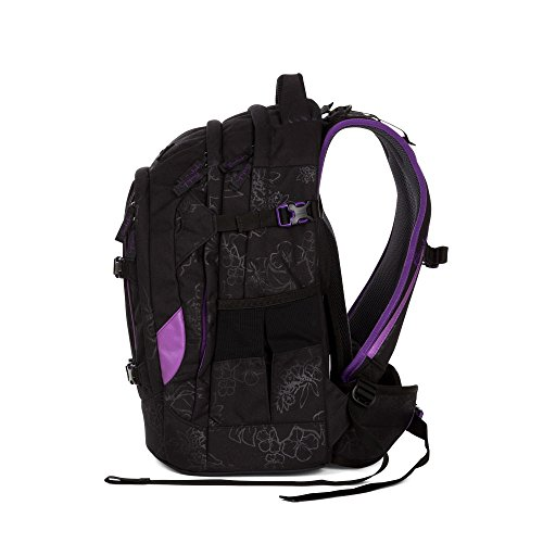Satch by Ergobag Purple Hibiscus Pack 2er Set Schulrucksack + Schlamperbox