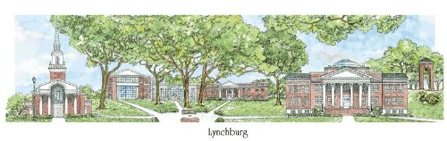 Lynchburg College - Collegiate Sculptured Ornament by Sculptured Watercolor Ornaments