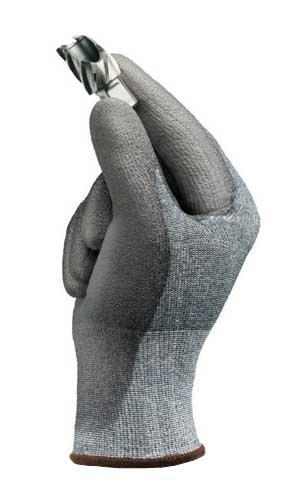 Ansell 11-627-8 Size 8 Hyflex Coated Work Gloves Gray