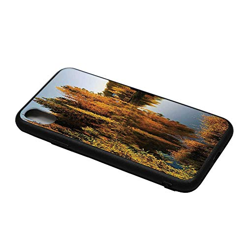 - Fall Decor Printing Compatible with iPhone X Case,Lake in Sunset Rays Autumn Landscape Pond Woodland Outdoors Ecology Environment Decorative for iPhone X Case,iPhone X