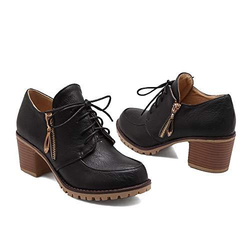 Aalardom scarpe con sintetico nero in tacco Open tacco toe Women tacco medio con Tsmdh003356 con alto rxv4r0q8
