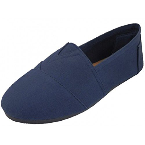Mens Canvas Deck Slip On Shoes Sneakers 360M Navy 11