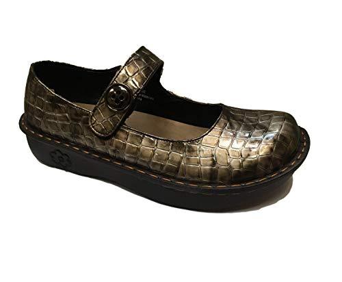 - Savvy Women's Slip Resistant Nursing & Professional Slip On Clogs (11, J Pewter Crocodile)