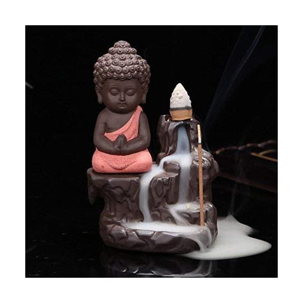 Back-Flow Buddha Incense Burner With 10 Cones
