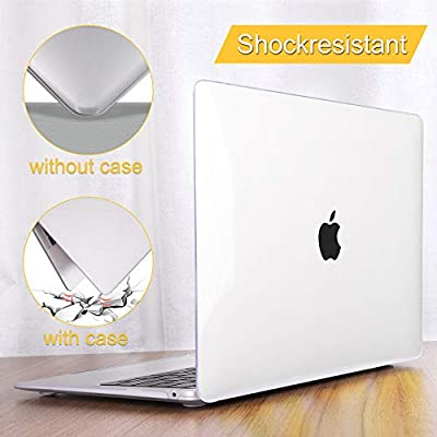 Mektron MacBook Pro 13 inch Case 206-2019 A2159//A1989//A1706//A1708 Crystal Clear Hard Shell w//Keyboard Cover /& Screen Protector for Mac 13.3 Pro Touch bar /& Touch ID