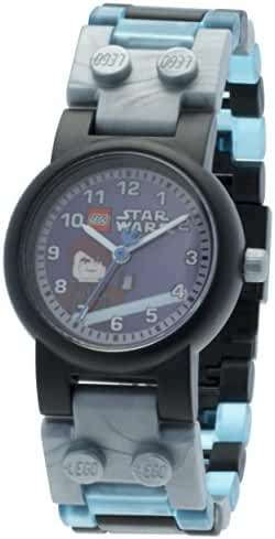 LEGO Anakin Star Wars Kids Buildable Watch with Link Bracelet and Minifigure | gray/blue | plastic | 28mm case diameter| analog quartz | boy girl | official
