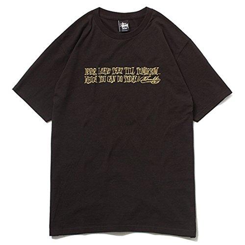 STUSSY ステューシー STUSSY SENDAI × FRANK Collaboration Tee Tシャツ ブラック×ゴールド B073PV8S4R   S