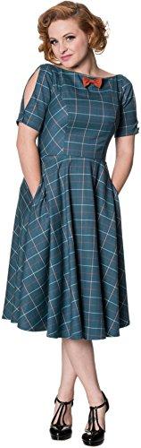 Kleid Eliza Dancing Karomuster Dress Karo Petrol Damen Swing mit Days qEqAtwv